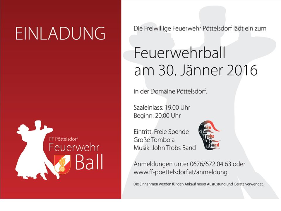 Einladung FW-Ball 2016